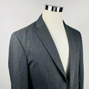 Joseph Jos A Bank 40 Slim Fit Sport Coat Dark Gray